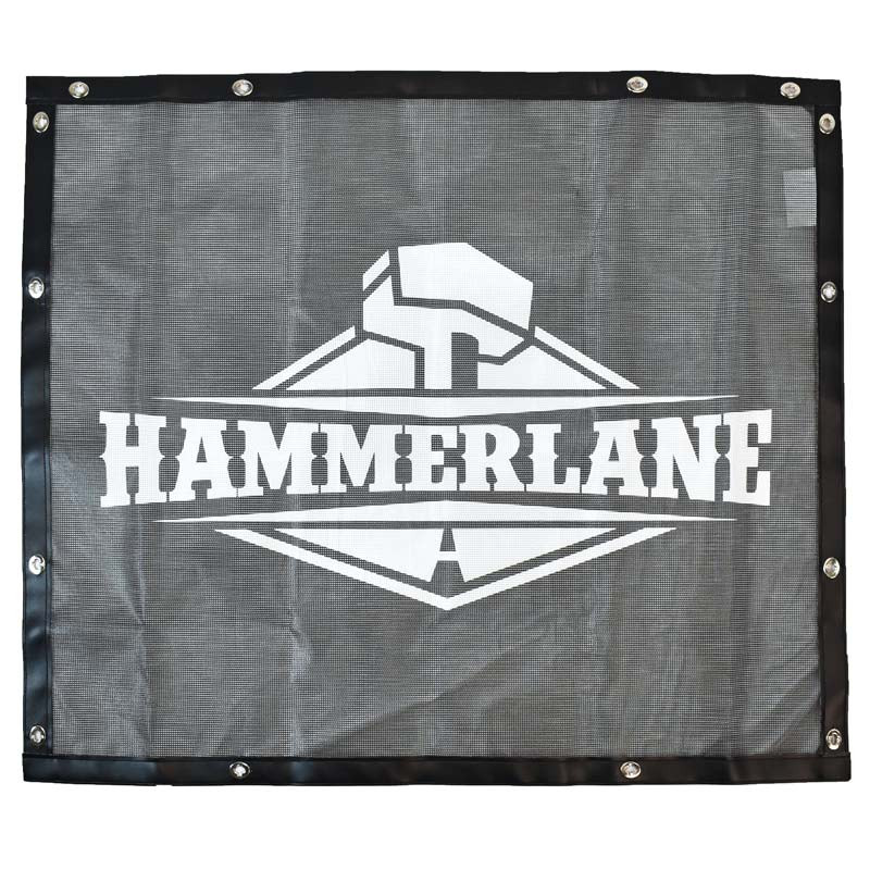 Black Bug Screen With Custom Hammerlane Logo
