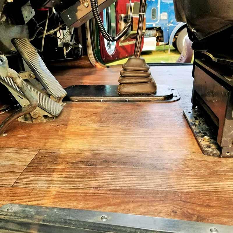 Freightliner Classic XL FLD120 Vinyl Wood Cab Flooring - Side View