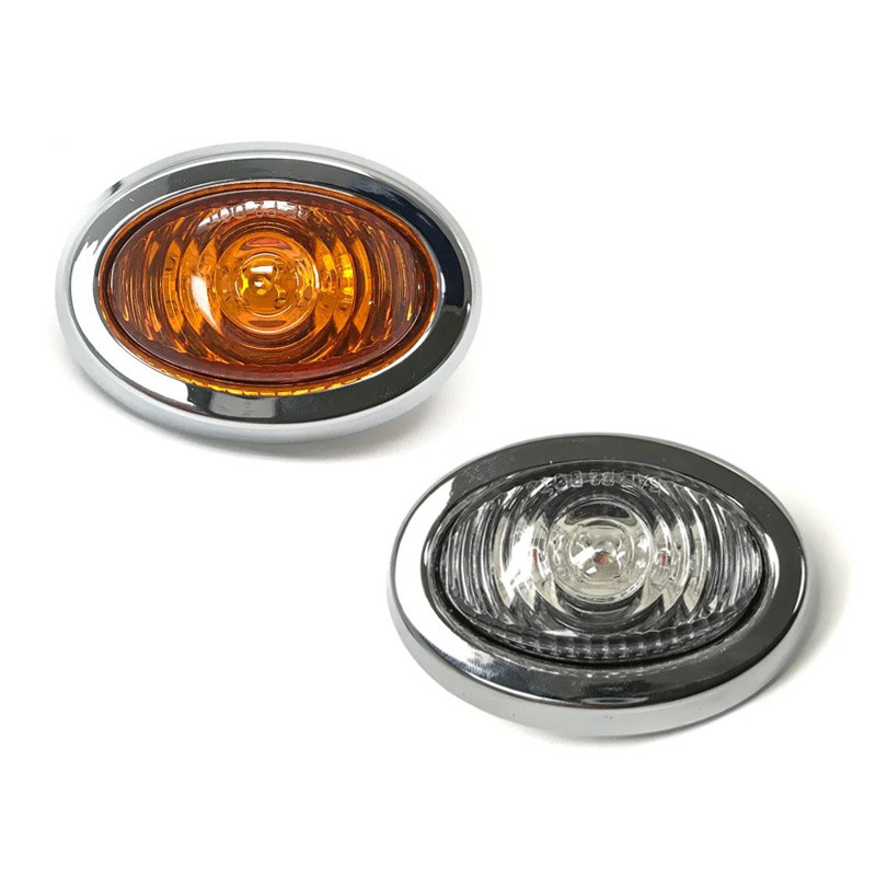 "1"" Mini LED Clearance Marker With Chrome Bezel"