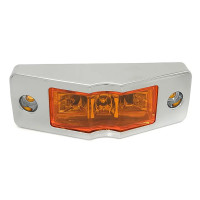 LED Clearance Marker Light With Chrome Bezel