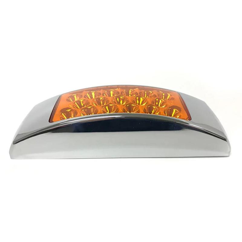 "6"" 17 LED Clearance Marker Light With Chrome Bezel"