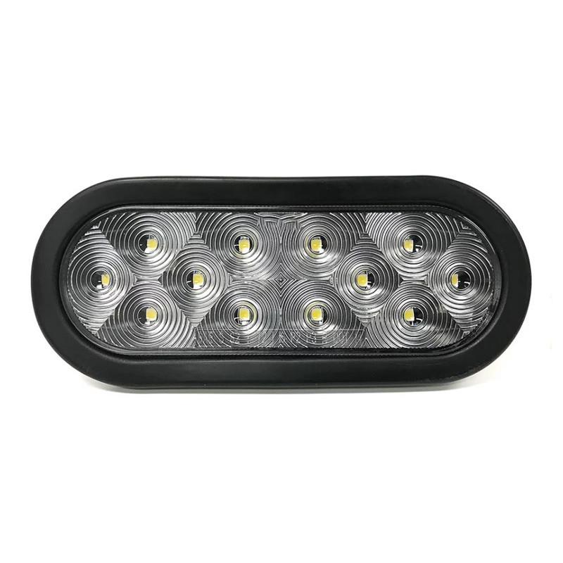 """6"""" Ultra Thin Oval 12 LED Back-Up Light Kit"""