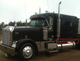 """Freightliner Classic 70"""" Sleeper Panels  Angle View"""