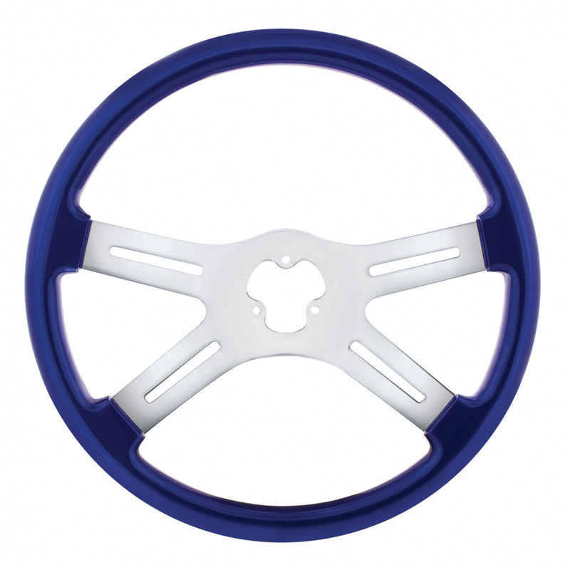 "18"" Vibrant Indigo Blue 4 Spoke Steering Wheel"