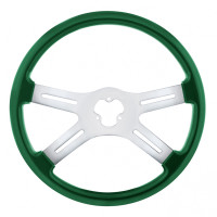 "18"" Vibrant Emerald Green 4 Spoke Steering Wheel"