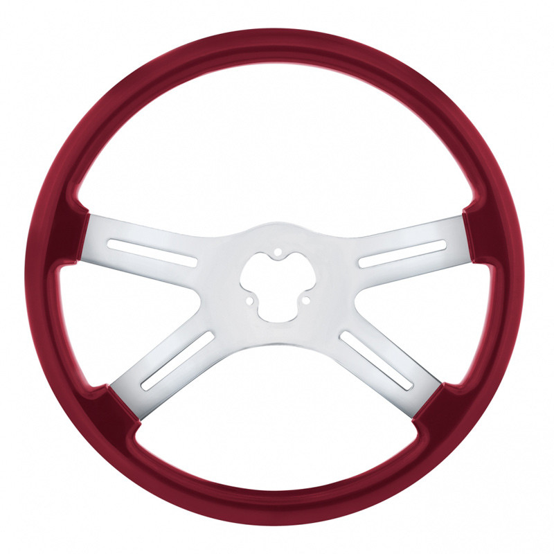"18"" Vibrant Candy Red 4 Spoke Steering Wheel"