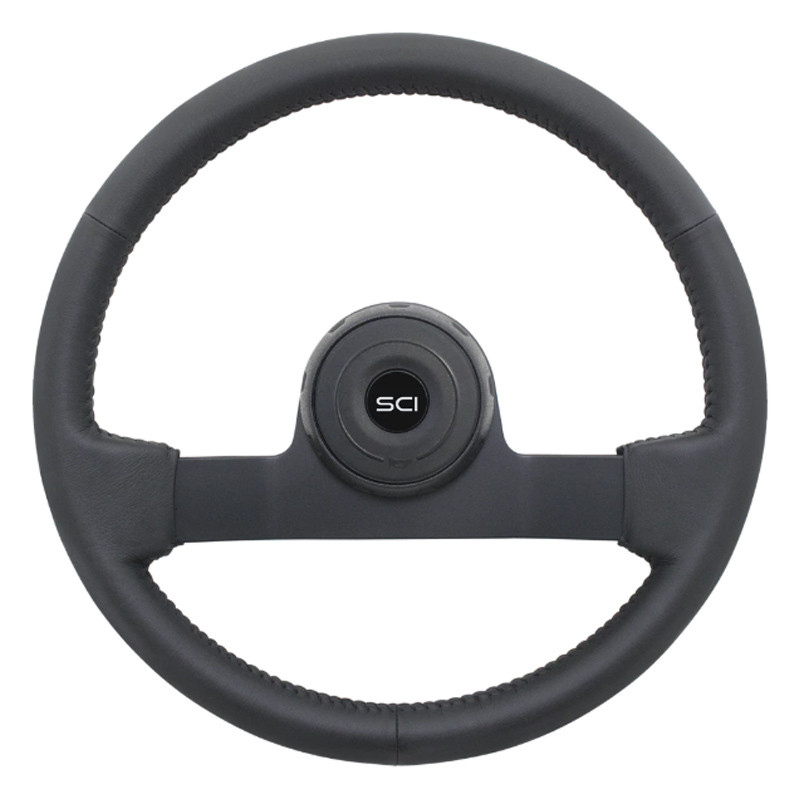 """16"""" Eagle Black Leather Steering Wheel"""