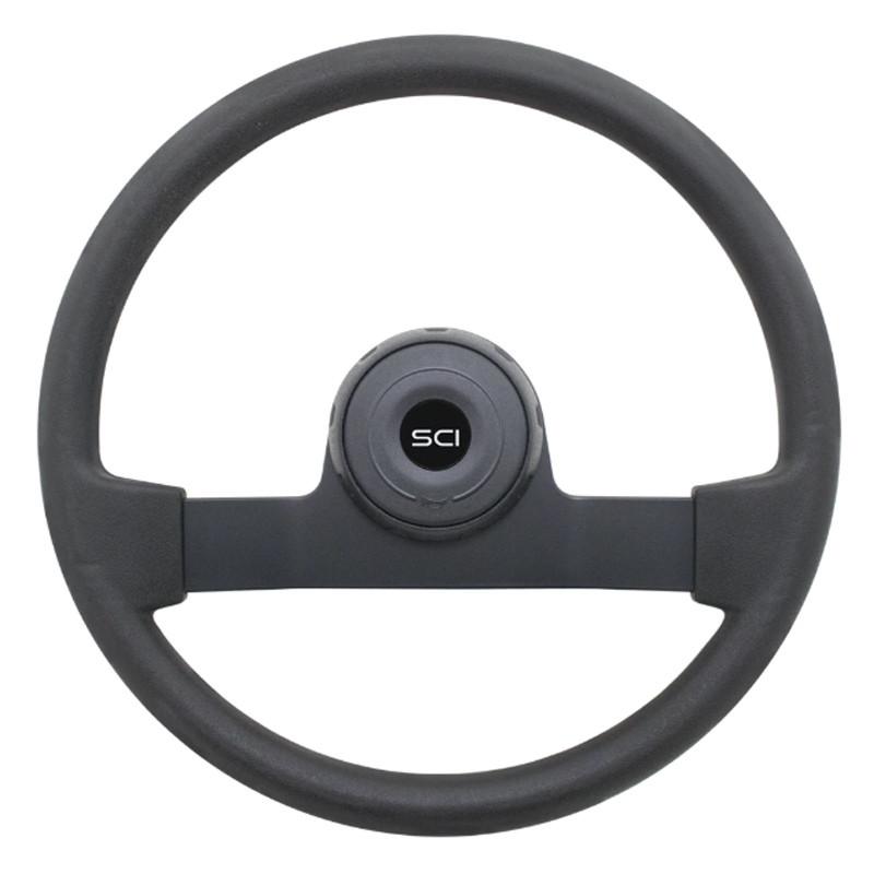 "16"" Horizon Black Polyurethane Steering Wheel"