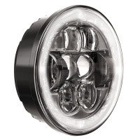 "JW Speaker 5.75"" Round LED Evolution Headlight Model 8630 - Side View On"