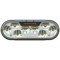 """JW Speaker 6"""" Heated White Reverse LED Light Model 274 - Front View"""