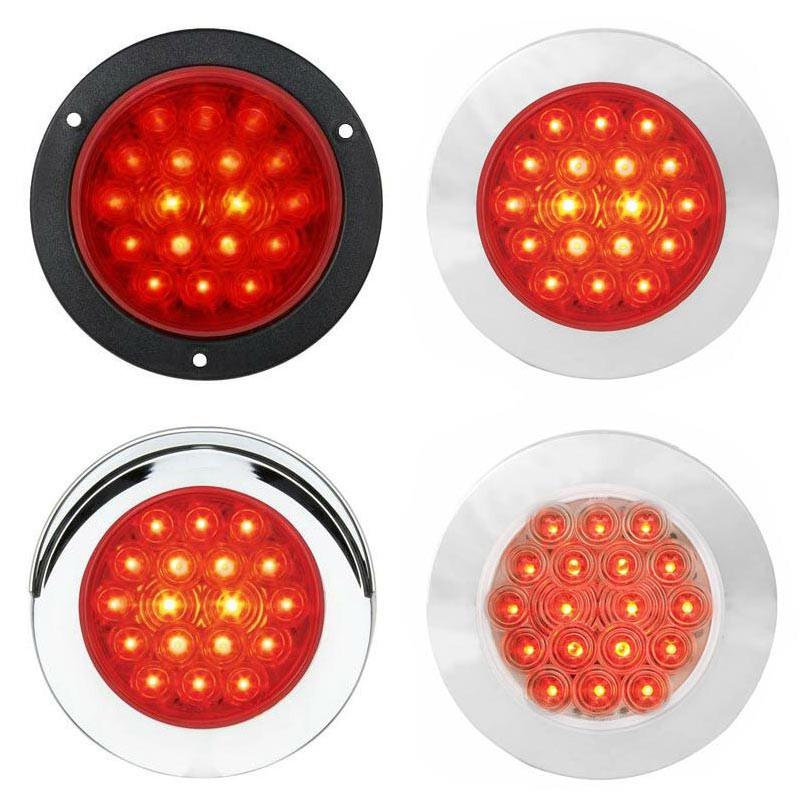 "4"" Round LED Light Flange Mount Fleet Series STT By Grand General - Default"