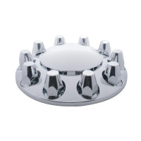 Chrome Front Axle Wheel Cover With 33mm Thread-On Lug Nut Covers
