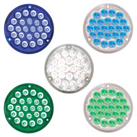 "4"" Pearl Round LED Interior Light With 1156 Plug"
