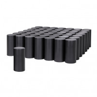 60 Pack of Matte Black 33mm Thread On Tall Cylinder Nut Cover