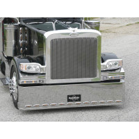Peterbilt 388 389 Grille with Vertical Bars Stainless Steel