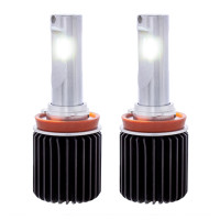 Dual Color High Power 12V H11 LED Replacement Bulb Pair - White Light
