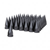 60 Pack of Matte Black 33mm Thread On Super Spike Nut Cover