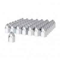 "60 Pack of Chrome 1 1/2"" Push On Bullet Nut Cover"