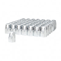 "60 Pack of Chrome 1 1/2"" Push On Tall Nut Cover"