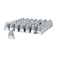 "60 Pack of Chrome 1 1/2"" Push On Slotted Bullet Nut Cover"