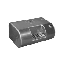 Rectangular Aluminum Passenger Side Fuel Tank With Step