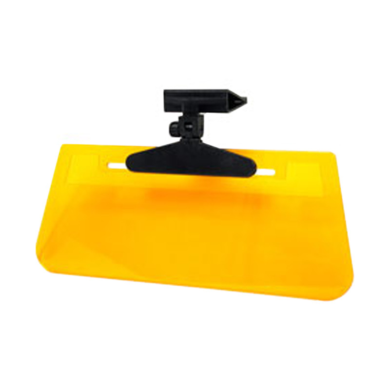 """Fully Adjustable Clip-On """"Ray Stopper"""" Yellow Tinted Sun Visor"""