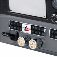 Chrome Hazard Switch Panel Trim Mounted View