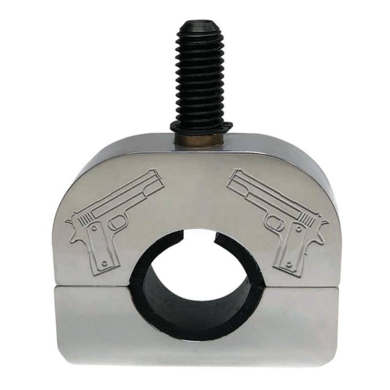 Dual Pistols Steering Wheel Spinner Clamp