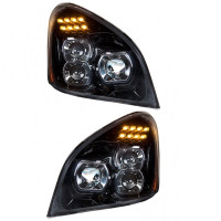 Freightliner Cascadia 2018 & Older Blackout Full LED Projection Headlight Pair