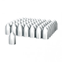 "Chrome 3 3/8"" Bullet Nut Covers"