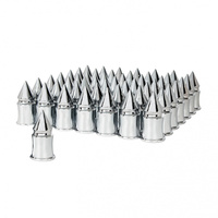 60 Pack Of Chrome 33mm V-Spike Nut Covers