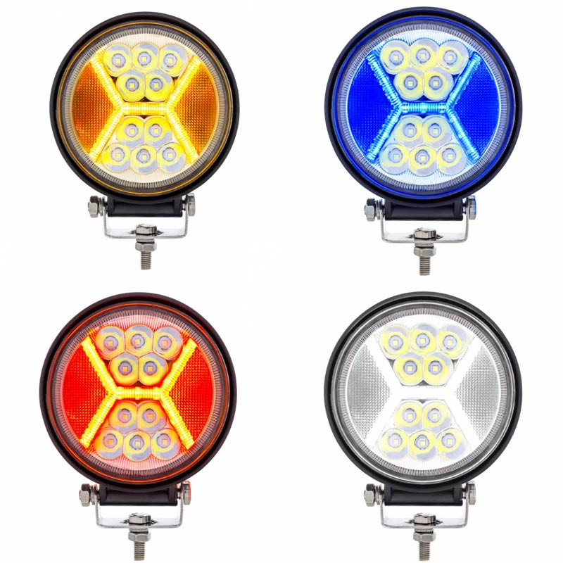 High Power LED Work Light With X Guide