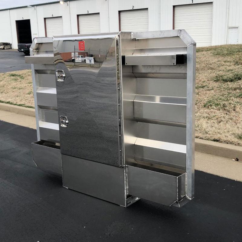 Lightweight Aluminum Center Vault Rack With Signature Stainless Door