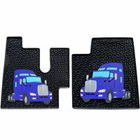 Kenworth W900 T660 T600 T800 Rubber Floor Mats Blue