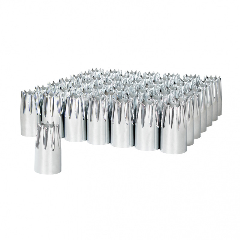 60 Pack Of Chrome 33mm Thread On Crown