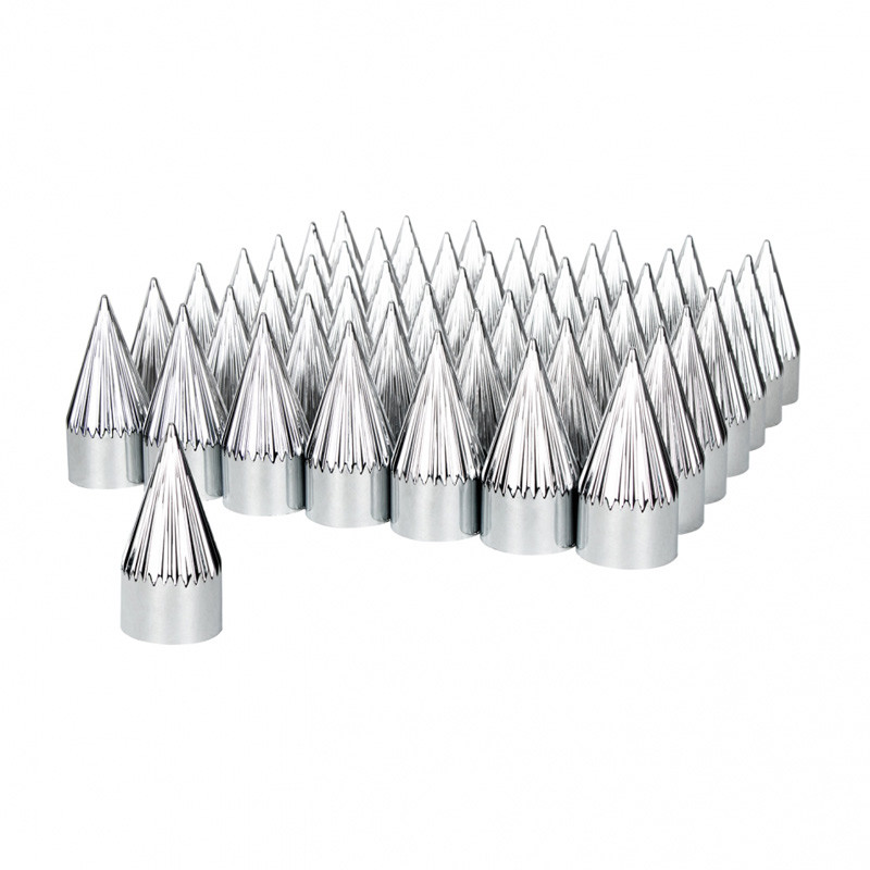 60 Pack Of Chrome 33mm Thread On Razor Nut Covers