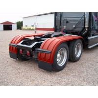 Minimizer Poly Truck Fenders Tandem Axle Red The Brute 900 Series On Truck