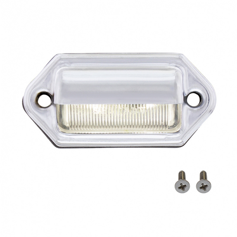 White LED License Light On