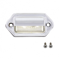 White LED License Light On