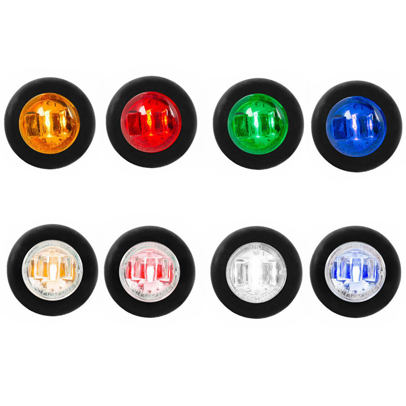 "3/4"" Mini Clearance Marker LED Light With Wide Angle Bow Tie Lens By Grand General - Default"