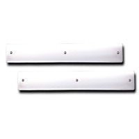 "Stainless Steel Square Cut Bottom Mud Flap Weight Pair - 24"" x 4"""