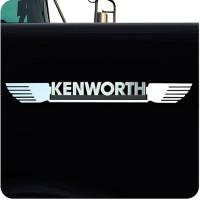 Kenworth Stainless Steel Straight Wing Emblem Trim