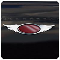 Peterbilt Stainless Steel Double Wing Emblem Trim