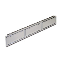 Hinged Stainless Steel Triple License Plate Holder