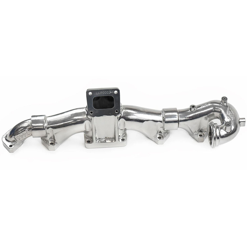 Cummins ISX15 X15 Exhaust Manifold Polished Ceramic Front View