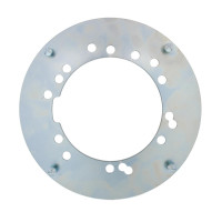 "Rear Chrome 8"" Hub Cap Mounting Bracket Front View"