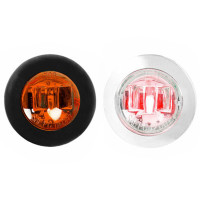 "3/4"" Mini Clearance Marker LED Dual Function Light With Wide Angle Bow Tie Lens - Default"