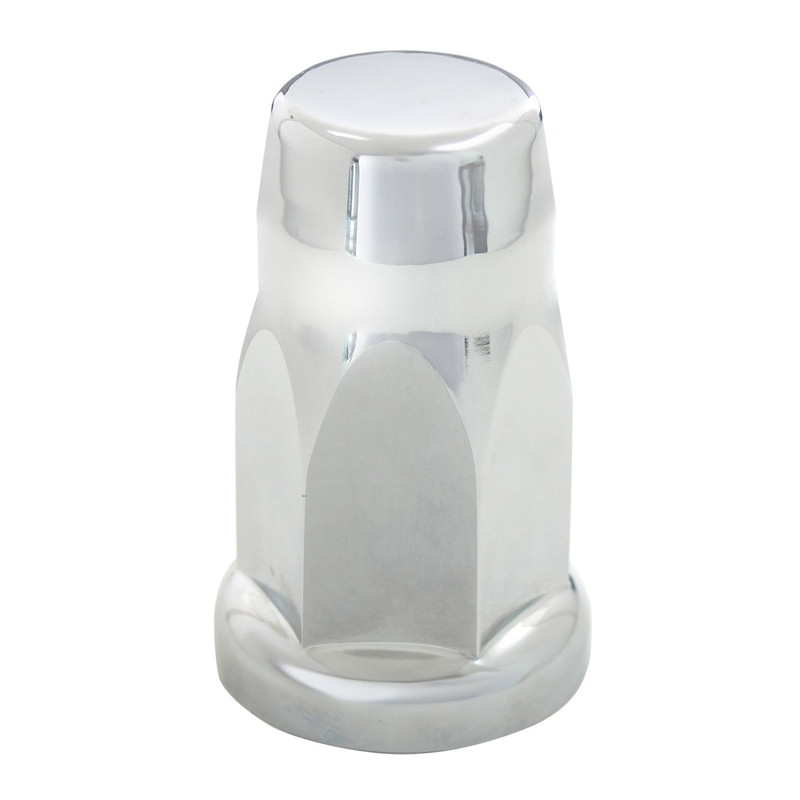 Chrome Plastic 33mm Push-On Silo Lug Nut Cover