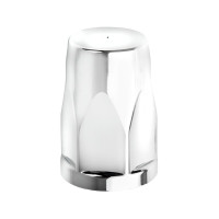 Chrome Plastic 33mm Thread-On Silo Lug Nut Cover