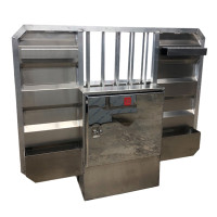 Aluminum Center Vault Rack with Signature Stainless Steel Door And Jail Bar Window